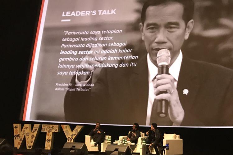 Mentri Pariwisata Arief Yahya bersama Erix Soekamti pada talkshow YOUTH x Public Figure Vol. 4