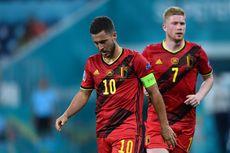 Line Up Belgia Vs Italia - Eden Hazard Luput, Kevin De Bruyne Starter
