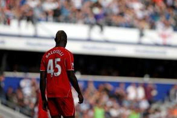 Penyerang Liverpool, Mario Balotelli.