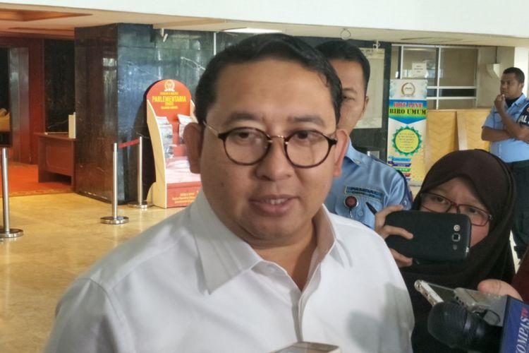 Wakil Ketua Umum Partai Gerindra sekaligus Wakil Ketua DPR Fadli Zon saat ditemui di Kompleks Parlemen, Senayan, Jakarta, Jumat (2/3/2018).