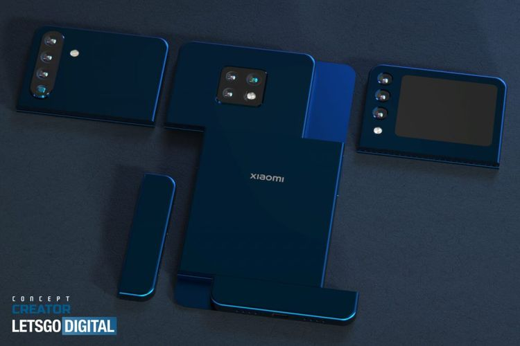 Ponsel modular Xiaomi dengan tiga modul kamera.