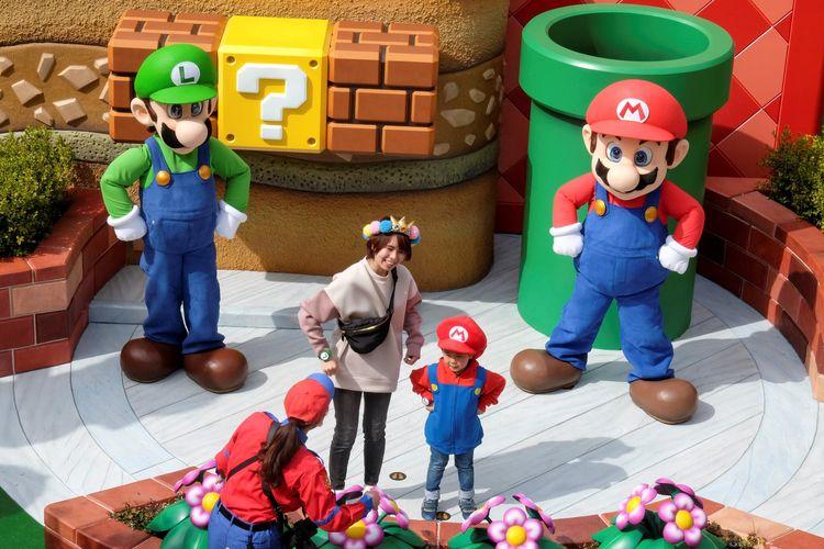 Taman hiburan Super Nintendo World di Universal Studios Japan (Irene Wang/Reuters via The New York Times).