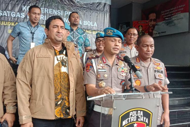 Ketua Satuan Tugas Antimafia Bola Brigjen Hendro Pandowo di Polda Metro Jaya, Jakarta Selatan, Jumat (24/1/2020).