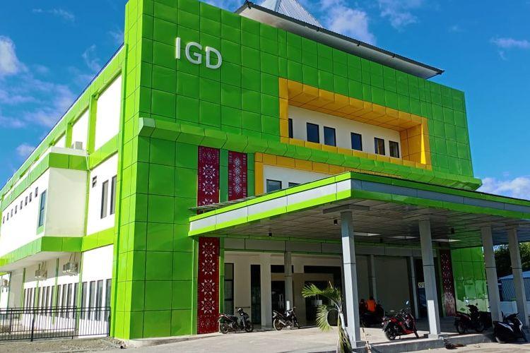 Foto : Gedung IGD RSUD Tc Hillers Maumere yang dibangun tahun 2019 lalu