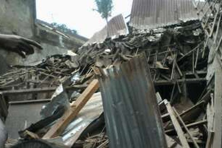 Kondisi rumah Mujianto, Jalan LA Sucipto, Gg 12, Nomor 5, Blimbing, Kota Malang.