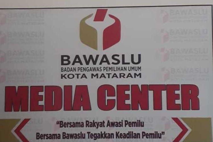 Media center Bawaslu Mataram