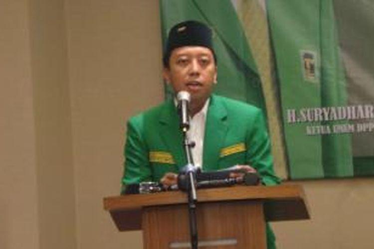 Sekretaris Jenderal DPP Partai Persatuan Pembangunan (PPP) Romahurmuziy