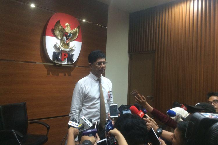 Wakil Ketua Komisi Pemberantasan Korupsi (KPK) Laode Muhammad Syarif di Gedung Merah Putih KPK Jakarta, Senin (27/8/2018).
