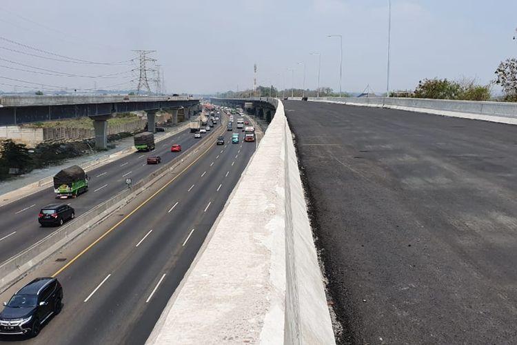 Ruas Jalan Tol Jakarta-Cikampek II (elevated) yang membentang dari Cikunir hingga Karawang Barat sepanjang 36,4 kilometer, Senin (9/9/2019).