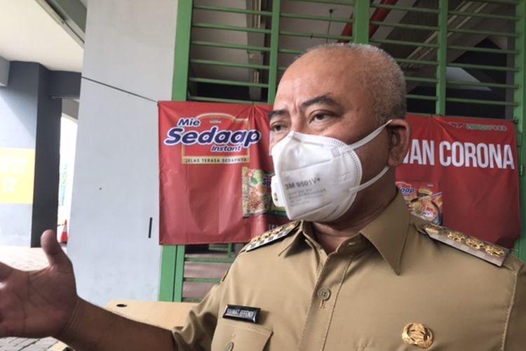 Wali Kota Bekasi Rahmat Effendi di Stadion Kota Bekasi, Senin (13/7/2020).