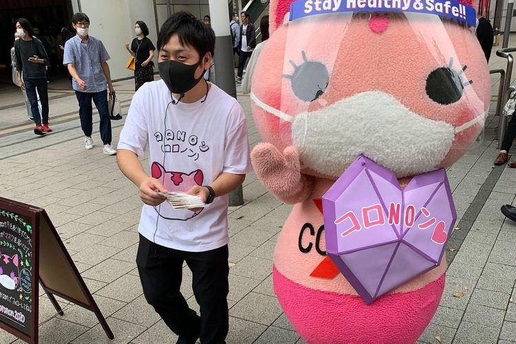 Maskot anti-Corona asal Jepang bernama Koronon.