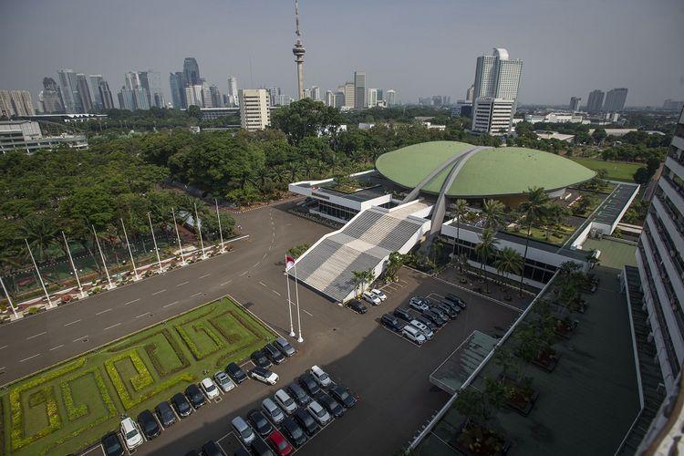 Suasana kompleks Parlemen, Senayan, Jakarta, Rabu (14/7/2021).ANTARA FOTO/Aditya Pradana Putra/wsj.