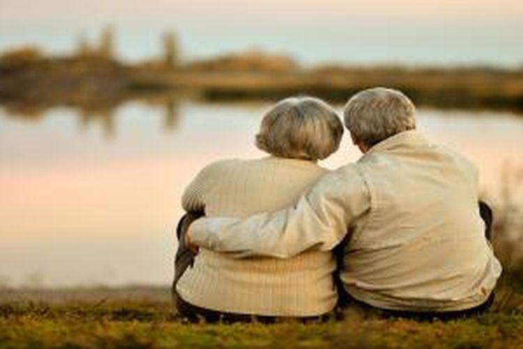 Ilustrasi pasangan lansia