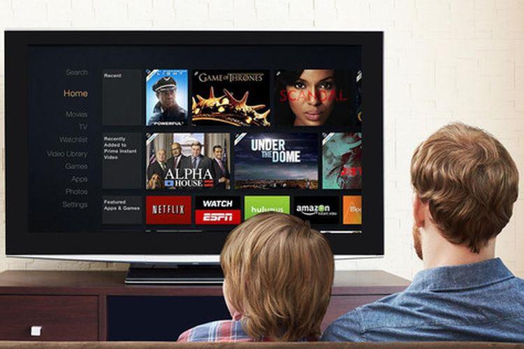 Ilustrasi pengguna menonton Amazon Prime Video