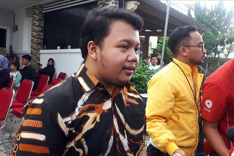 Anak dari Sutopo Purwo Nugroho, Muhammad Ivanka Rizaldy Nugroho di kediaman Sutopo di Depok, Jawa Barat, Minggu (7/7/2019).