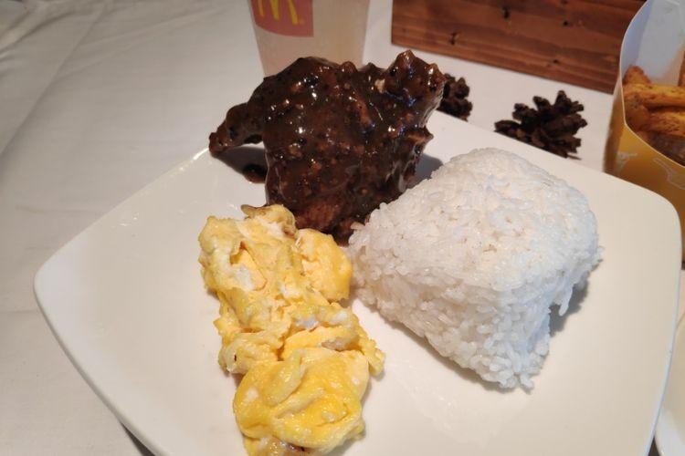 Black pepper chicken & rice speciql dari menu Prosperity McDonalds Indonesia
