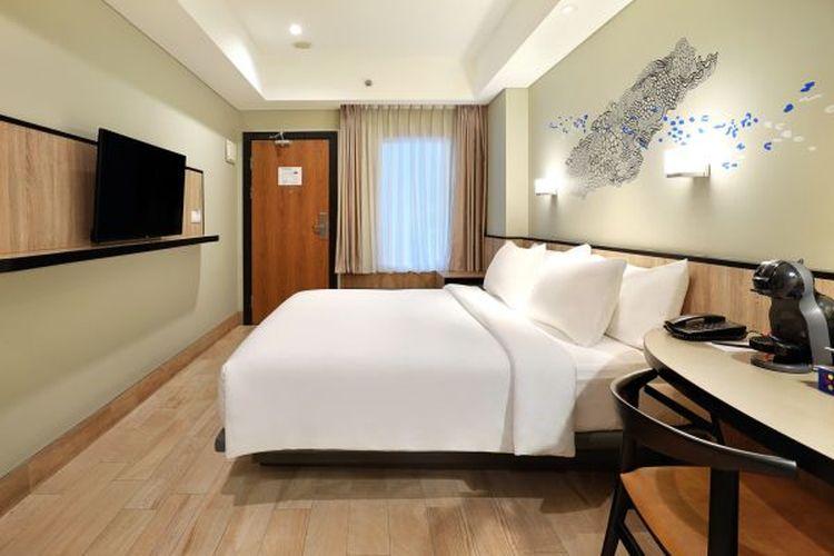 Kamar di Swiss Belinn Wahid Hasyim Jakarta Pusat