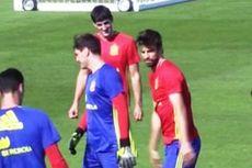 Saat Latihan, Pique dan Casillas Saling Tampar