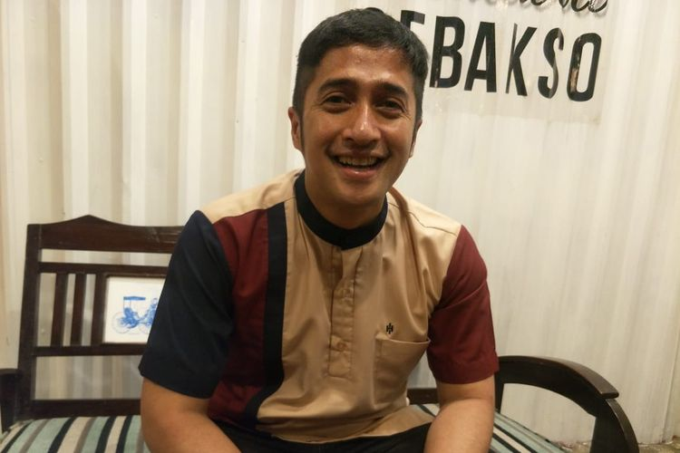 Irfan Hakim saat ditemui di kedai Mie Baksonya di kawasan Jatiwaringin, Jakarta Timur, Sabtu (8/6/2019).