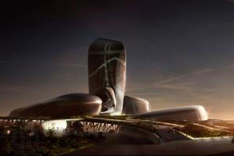 Berlokasi di Dhahran, Arab Saudi, gedung Pusat Budaya King Abdul Aziz dalam waktu dekat akan menjadi landmark bersejarah di negara itu.