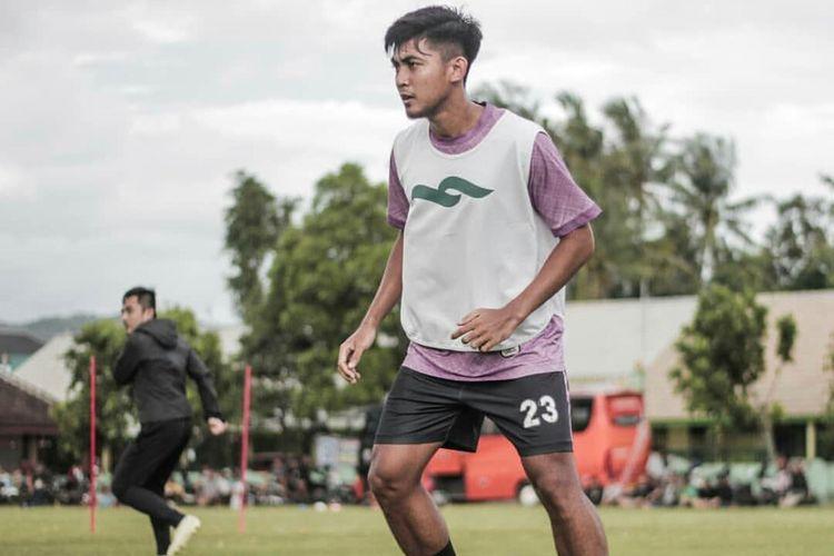 Arsyad Yusgiantoro saat menjalani sesi latihan bersama tim PSS Sleman.