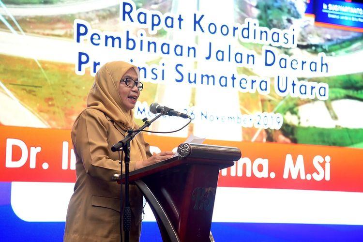 Sekretaris Daerah Provinsi Sumut R Sabrina membuka Rapat Koordinasi Pembinaan Jalan Daerah Provinsi Sumut