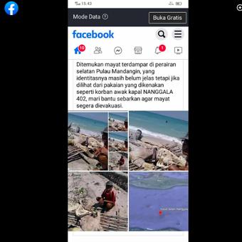 Hoaks penemuan mayat di Pulau Mandangin merupakan awak kapal Nanggala 402