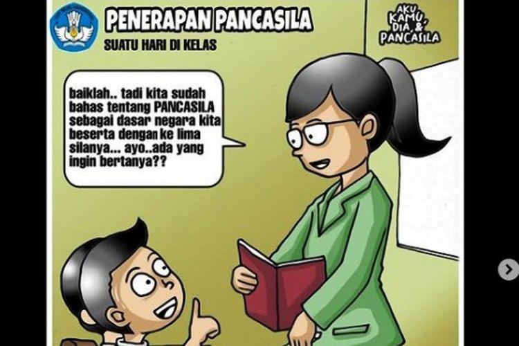 Contoh penerapan Pancasila dalam kehidupan sehari-hari bagi siswa SD atau SMP.