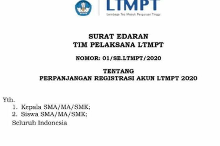 Pendaftaran Diperpanjang Ltmpt Minta Sekolah Dan Siswa Lakukan Finalisasi Halaman All Kompas Com