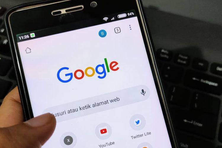 Un ejemplo de Google Chrome en un teléfono Android.