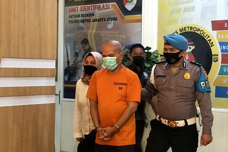 Guru ngaji cabul saat ditemui di Polres Metro Jakarta Utara, Rabu (9/6/2021).