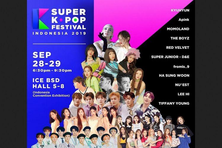 Lineup Super Kpop Festival Indonesia 2019.