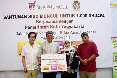 Sambut Ramadan, Sido Muncul Beri Santunan kepada 1000 Dhuafa di Yogyakarta