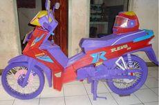 Viral Sepeda Motor dari Sedotan Plastik: