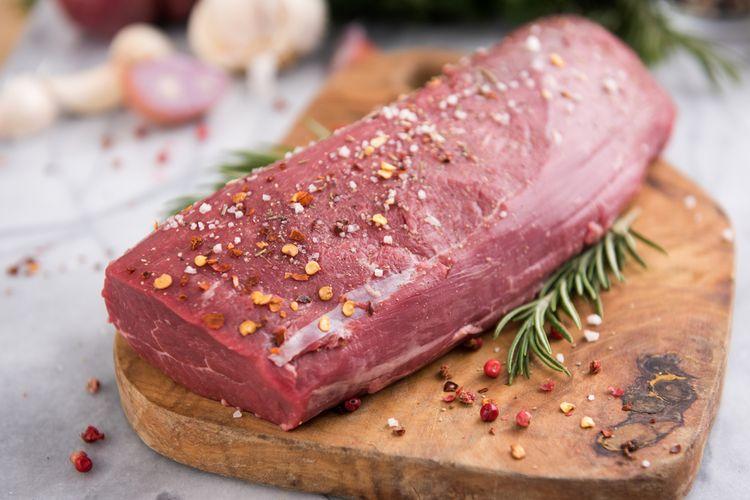 Beef Tenderloin, salah satu potongan daging untuk steak.