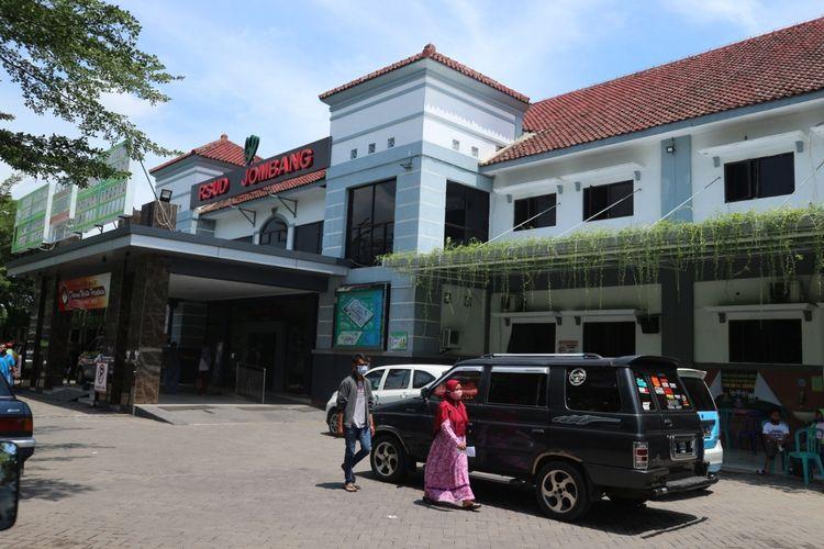 Rumah Sakit Umum Daerah (RSUD) Jombang, Jawa Timur, tampak dari depan.