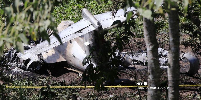 Pesawat Milik Angkatan Udara Meksiko Kecelakaan, Seluruh Penumpang Tewas