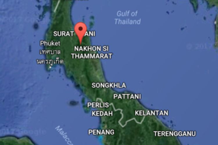 Thailand Selatan, terusan Kra