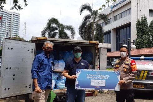 Yayasan Dana Kemanusiaan Kompas dan Polsek Tanah Abang Salurkan Bantuan Bahan Pokok