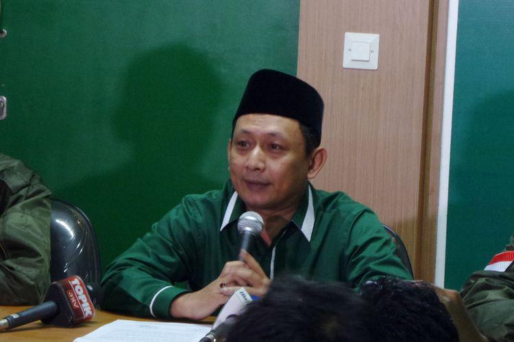 DPW PKB DKI Jakarta menyatakan sikap pihaknya menjelang putaran kedua Pilkada DKI Jakarta di kantornya, Kamis (23/2/2017). Pernyataan sikap disampaikan oleh Ketua DPW PKB DKI Jakarta Hasbiallah Ilyas.