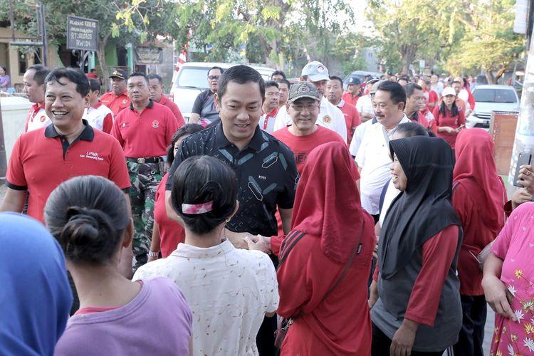 Wali Kota Hendi saat menyambangi Kelurahan Tawangmas, Semarang.