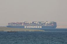 Ever Given Masih Ditahan, Pemilik Kapal Berusaha Nego Harga Pembebasan dari Terusan Suez