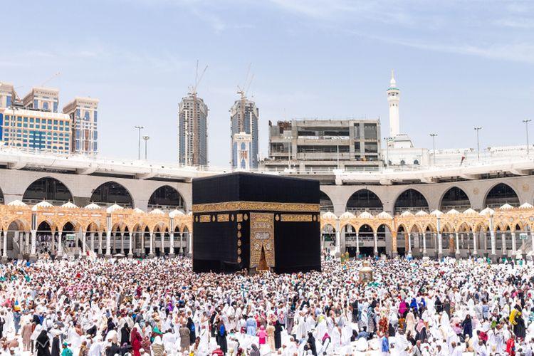 Ilustrasi ibadah umrah, kabah, Arab Saudi