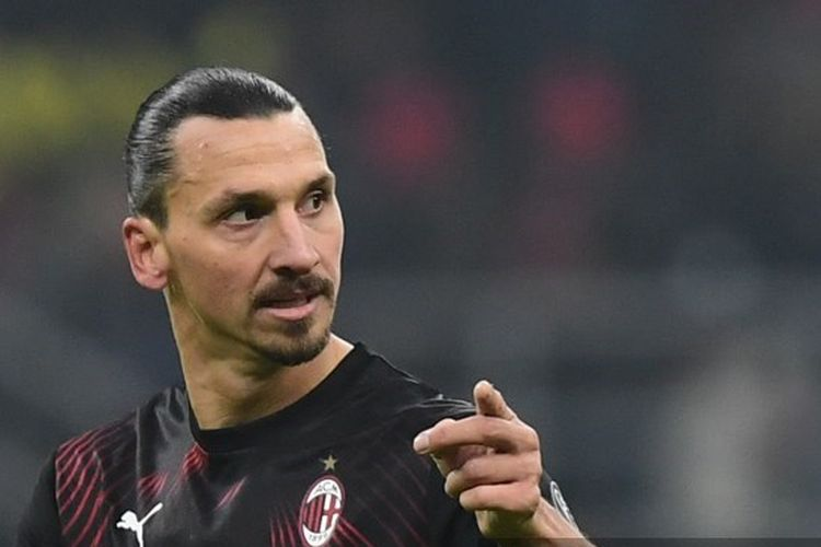 Penyerang AC Milan, Zlatan Ibrahimovic