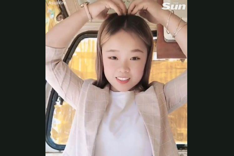 Xiaoqiumei, influencer China dalam video sebelum ditemukan tewas karena jatuh dari crane. [SS Via The Sun]