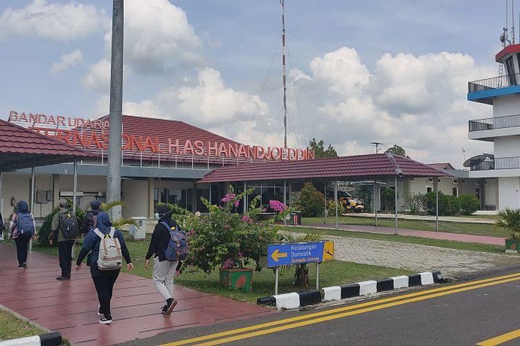 Tiba di bandara HAS Hanandjoeddin, Tanjung Pandan, Belitung, Sabtu (9/11/2019).