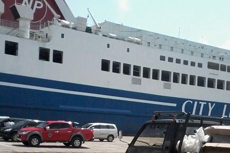 KM Mutiara Sentosa III siap angkut penumpang mudik Lebaran 2016 melalui jalur tol laut Pelabuhan Panjang-Tanjung Priok.
