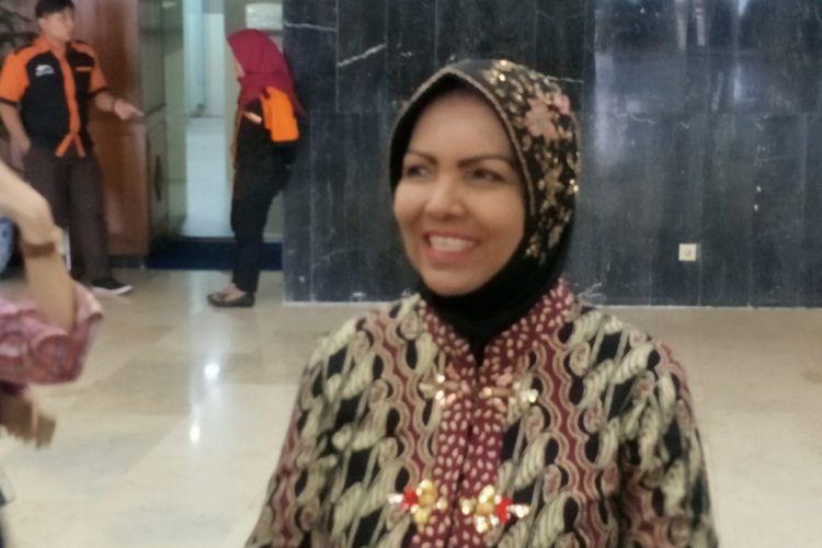 Wakil Ketua Umum Partai Demokrat Nurhayati Ali Assegaf di Kompleks Parlemen, Senayan, Jakarta, Senin (26/2/2018).
