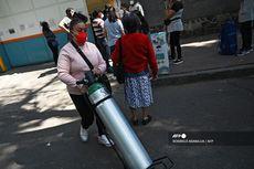 Keluarga Pasien Covid-19 di Meksiko Antre Beli Oksigen sampai Berjam-jam