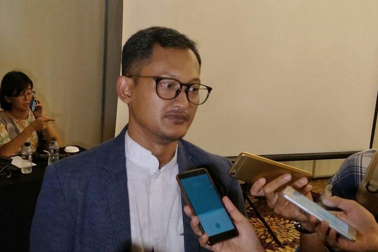 CEO Alvara Research Center Hasanuddin Ali di Jakarta, Jumat (23/2/2018).